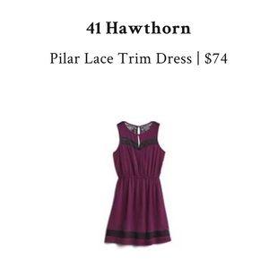 41 Hawthorne Pilar Lace Trim Dress